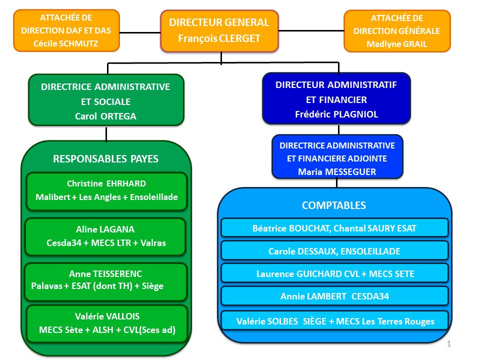 Organigramme et hiérarchie du siège associatif