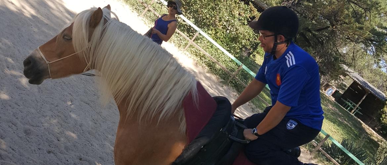 Pratique de l'équitation à l'ESAT